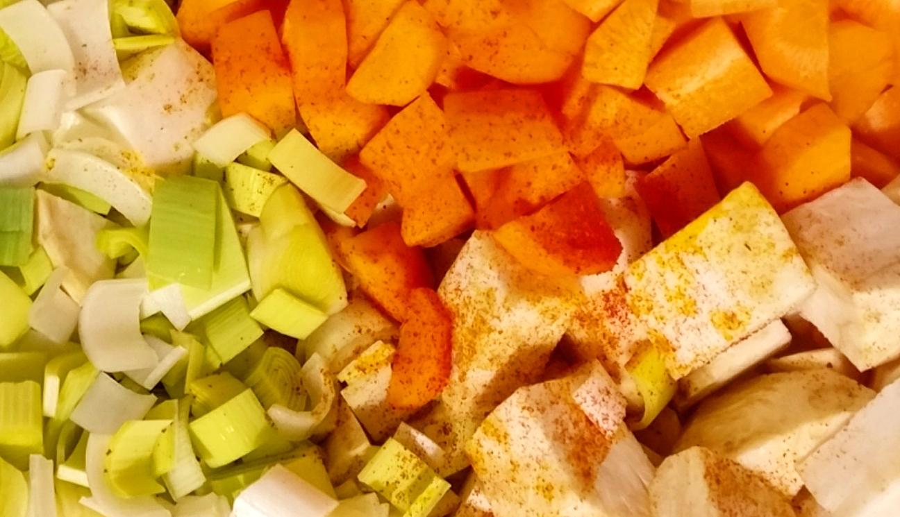 Sedano rapa, porro e carota